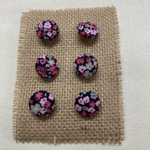Ditsy Pink Floral Buttons