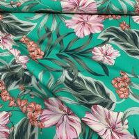 Summer Floral on Bold Green